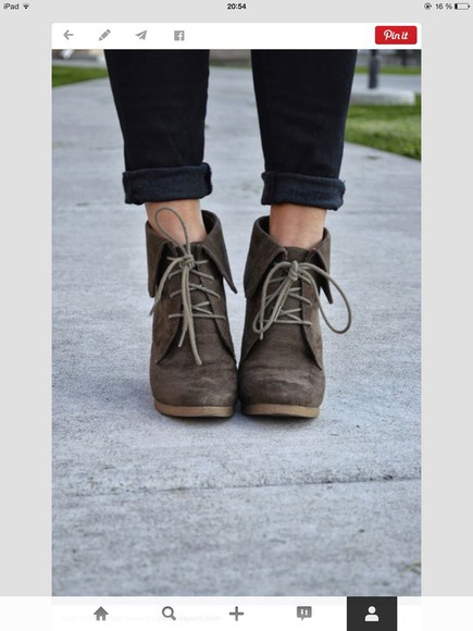 boots low boots brown boots fall outfits