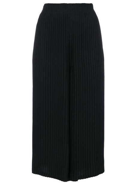 Mm6 Maison Margiela pleated cropped women black pants
