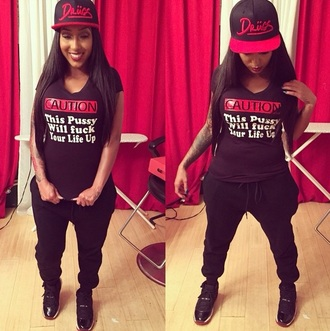top hat sneakers jeans black red white girl girly t-shirt style shirt shoes pants sweatpants black sweatpants black jeans black top black t-shirt black pants black shirt tattoo tattooed girl dope wishlist girly wishlist