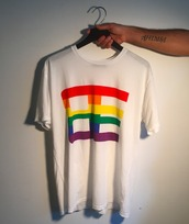 t-shirt,white,white top,white t-shirt,lgbt,baja east