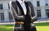jacket,black and white,blazer