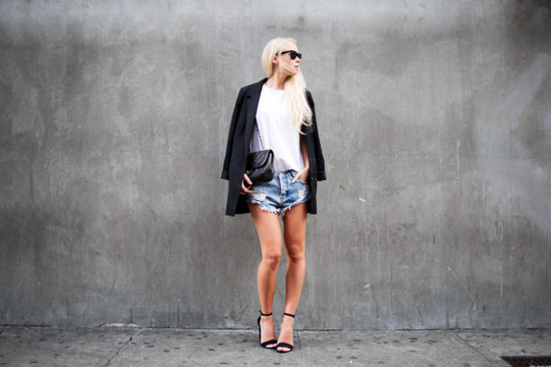 victoria tornegren blogger shoes bag shirt jacket shorts