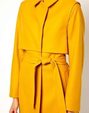 Just Female | Just Female Wool Belted Coat at ASOS