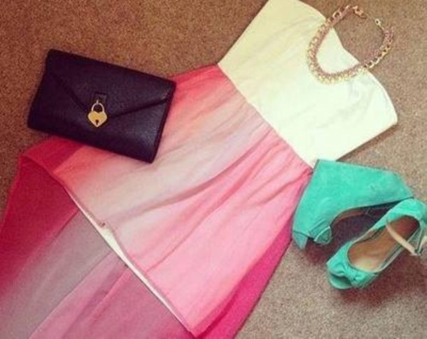 2acd300b783f dress girl style fub dress heels jewelry outfit clothes shoes top necklace  cute white dress pink