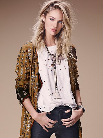 Free People  Destroyed Muscle Tee at Free People Clothing Boutique