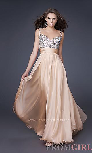 Floor Length Beaded Bust Sweetheart Dress-PromGirl (With