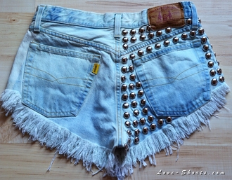 jeans denim shorts vintage shorts intage vintage acid wash high waisted shorts ripped shorts levi studded shorts shorts
