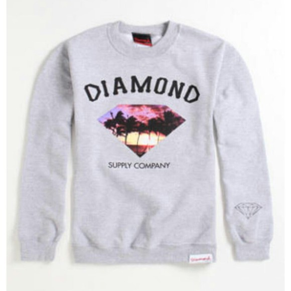 shirt crewneck diamond supply co. diamond palmtree sweatshirts