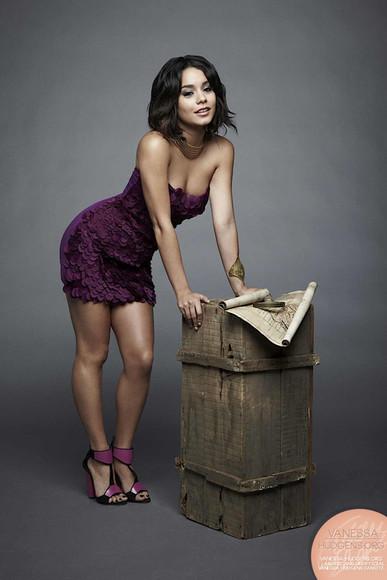 purple dress purple dress vanessa hudgens photoshoot Vanessa Hudgens