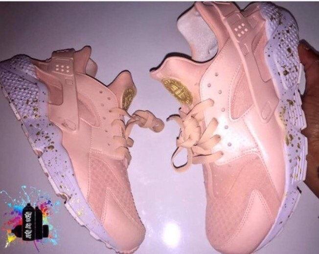 dcd29254b432 Pearl Rose Gold Nike Air Huarache White sole customs