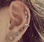 jewels,helix piercing