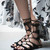 Suede Lace-up Flats Gladiator Sandals