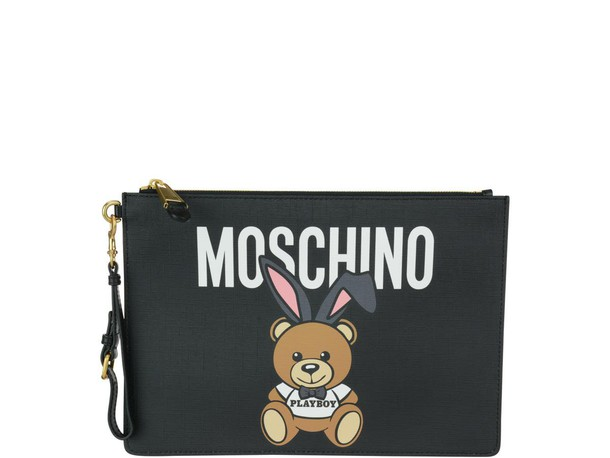 Moschino bear pouch black bag