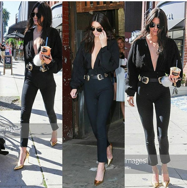 belt black double buckle belt kendall jenner black belt accessories Accessory style trendy celebrity style celebrity celebstyle for less black keeping up with the kardashians model off-duty model