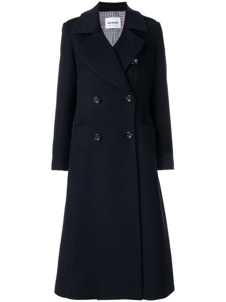 AVA ADORE coat double breasted women black wool