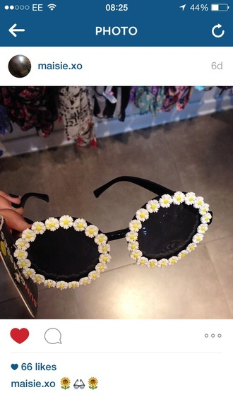 sunglasses floral sunglasses cool tumblr new trend