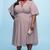 High Low Circle Sleeve Wrap Dress