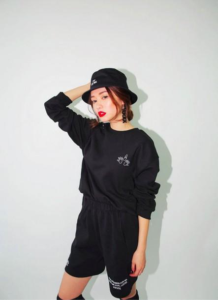 shorts High waisted shorts black shorts korean fashion kfashion