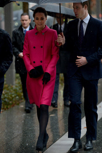kate middleton pink coat coat