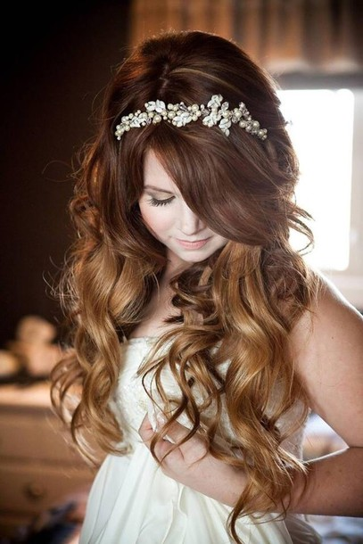 Jewels Crown Wedding Hair Accessory Hairstyles Wedding Gown