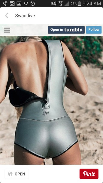 swimwear metallic surf neoprene