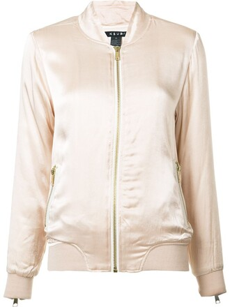 jacket bomber jacket women classic purple pink