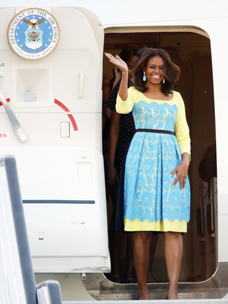 dress midi dress michelle obama first lady outfits