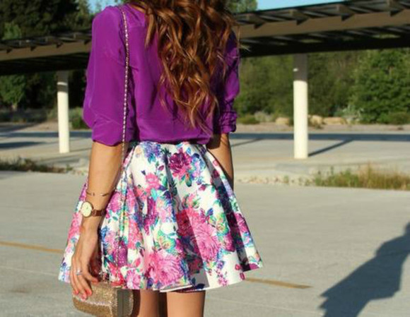 watch dress flower print clutch cardigan