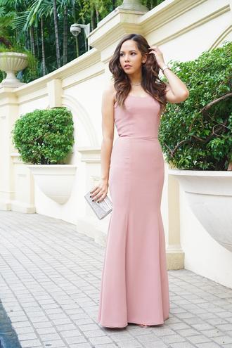 paradigma blogger pink dress dusty pink mermaid prom dress prom dress long prom dress classy