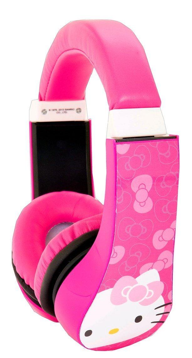Amazon.com: hello kitty kid safe over the ear headphone w/ volume limiter (30309): electronics