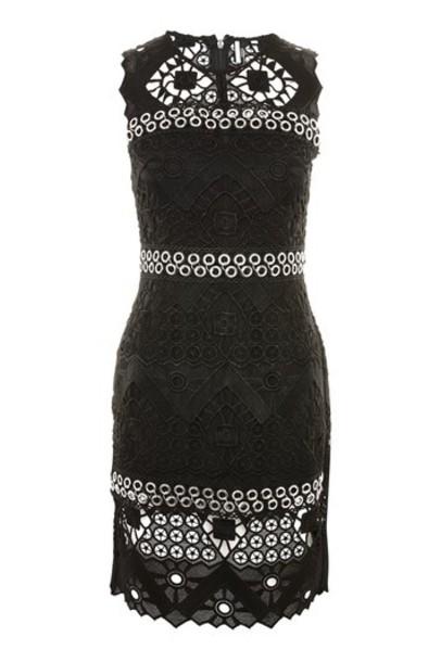 Topshop dress mini dress mini geometric lace black