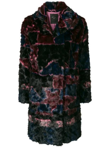 Frankie Morello coat faux fur coat fur coat fur faux fur women purple pink
