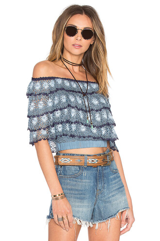 top crochet top crochet blue