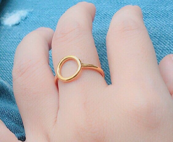 Circle Gold Ring - Cute Ring - Tiny Ring - Geometry Ring - Stackable Ring