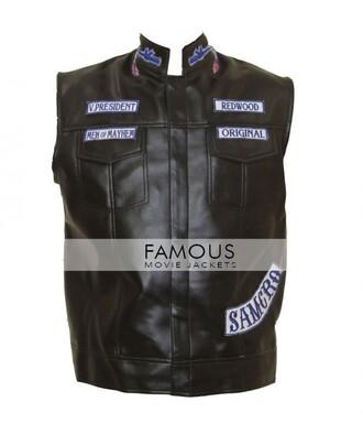 jacket celebrity: jax teller sons of anarchy vest leather jacket