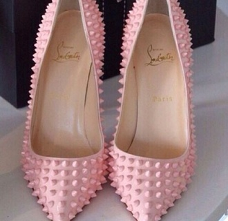 shoes pink high heels edgy girly