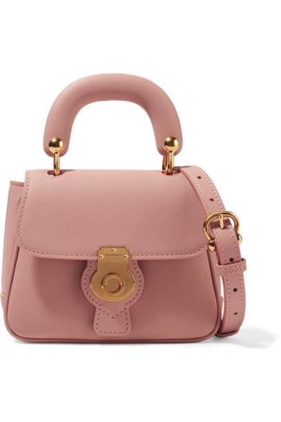 Burberry mini bag shoulder bag leather blush