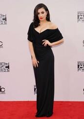 dress,gown,prom dress,charli xcx,American Music Awards,black
