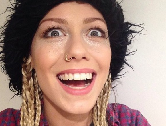 jewels silver nose chain nose rings diamonds gold glamgerous jenna mcdougall punk