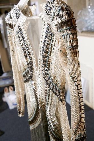 sequins dress rhinestones clubwear gold metallic dress mesh top mesh crop