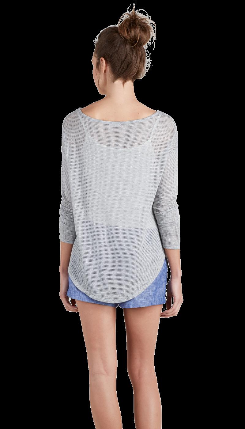 JOIE Benton Sweater Htr Grey   Sheer Jersey Sweater