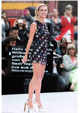 dress stars heidi klum sandals platform sandals mini dress shoes