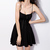 Solid Color Lace-Up Solid Color Sexy Style Spaghetti Strap Slimming Dress For Women