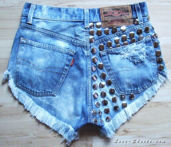 shorts acid wash vintage jeans denim sexy studded shorts High waisted shorts levi's levi's shorts