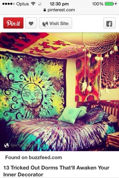 home accessory bedroom home decor dream teenagers girl bedding hippie tie dye tapestry
