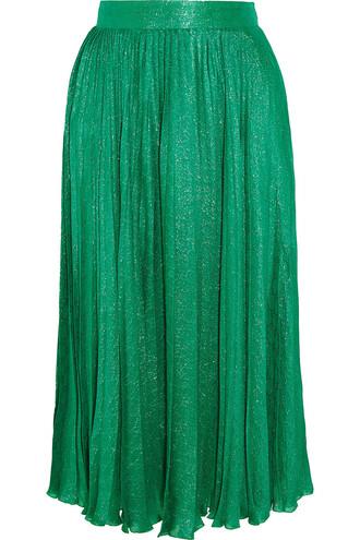 skirt midi skirt pleated midi jacquard silk