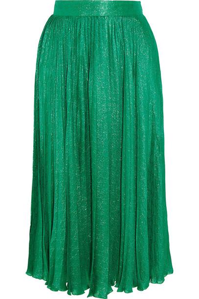 gucci skirt midi skirt pleated midi jacquard silk