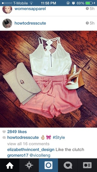 style shorts orange orange shorts orange-ish