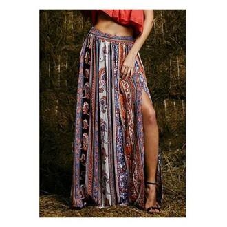 skirt lookbook store slit maxi skirt