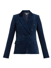 blazer,double breasted,cotton,blue,jacket